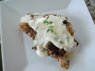Pistachio Crusted Chicken with Creamy Dijon Sauce