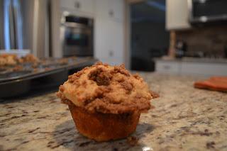 Whole Wheat Cinnamon Streusel Muffins