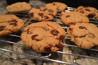 Whole Wheat Dark Chocolate Chip Cookies