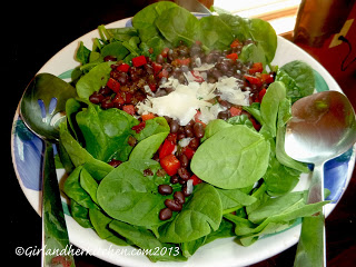 Warm Black Bean and Spinach Salad