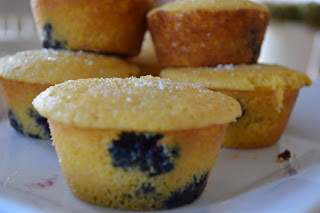 Mother's Day Brunch: Blueberry Corn Muffins