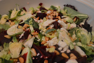 Shaved Brussel Sprout Salad with Beets