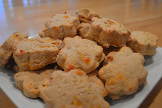 Whole Wheat Garlic Cheddar Biscuits