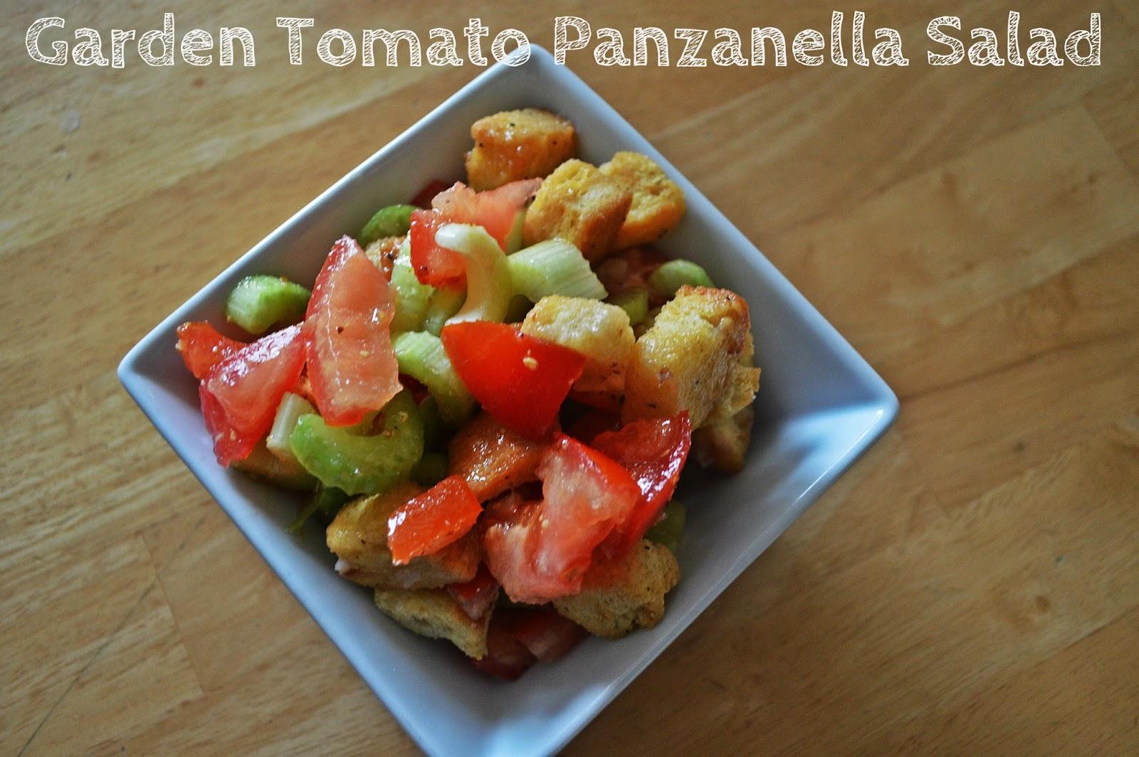 Garden Tomato Panzanella Salad - Girl and Her Kitchen