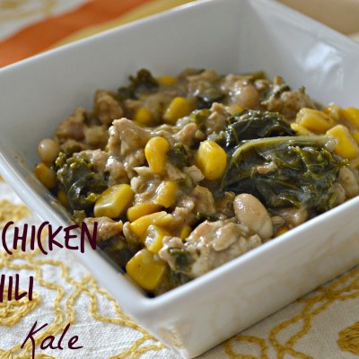 White Chicken Chili with Kale