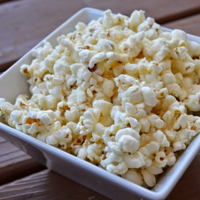 Rosemary + Garlic Scented Popcorn with Parmesan