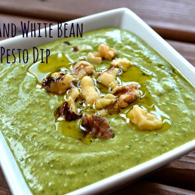 Kale and White Bean Pesto Dip