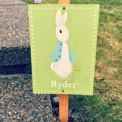 Easter Yard Signs {Pottery Barn Hack!}