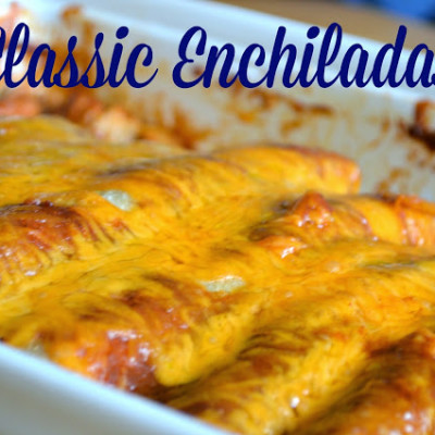 Classic Enchiladas {and a bonus recipe for Homemade Enchilada Sauce!}