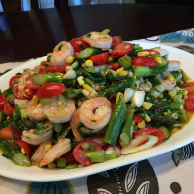 Shrimp Salad with Tequila Honey Lime Dressing