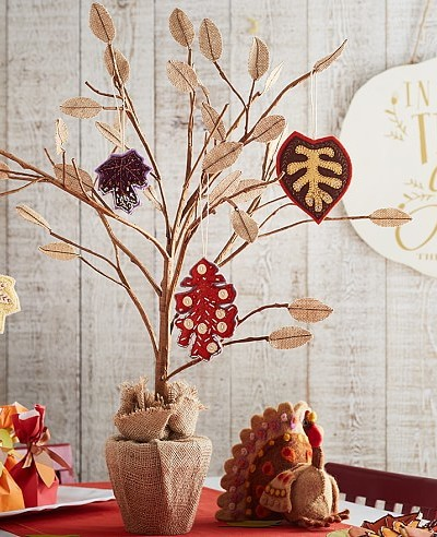 Thanksgiving Tree Centerpiece – Pottery Barn Kids Hack for under $10