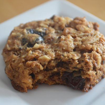 Whole Grain Chocolate Cherry Breakfast Cookies