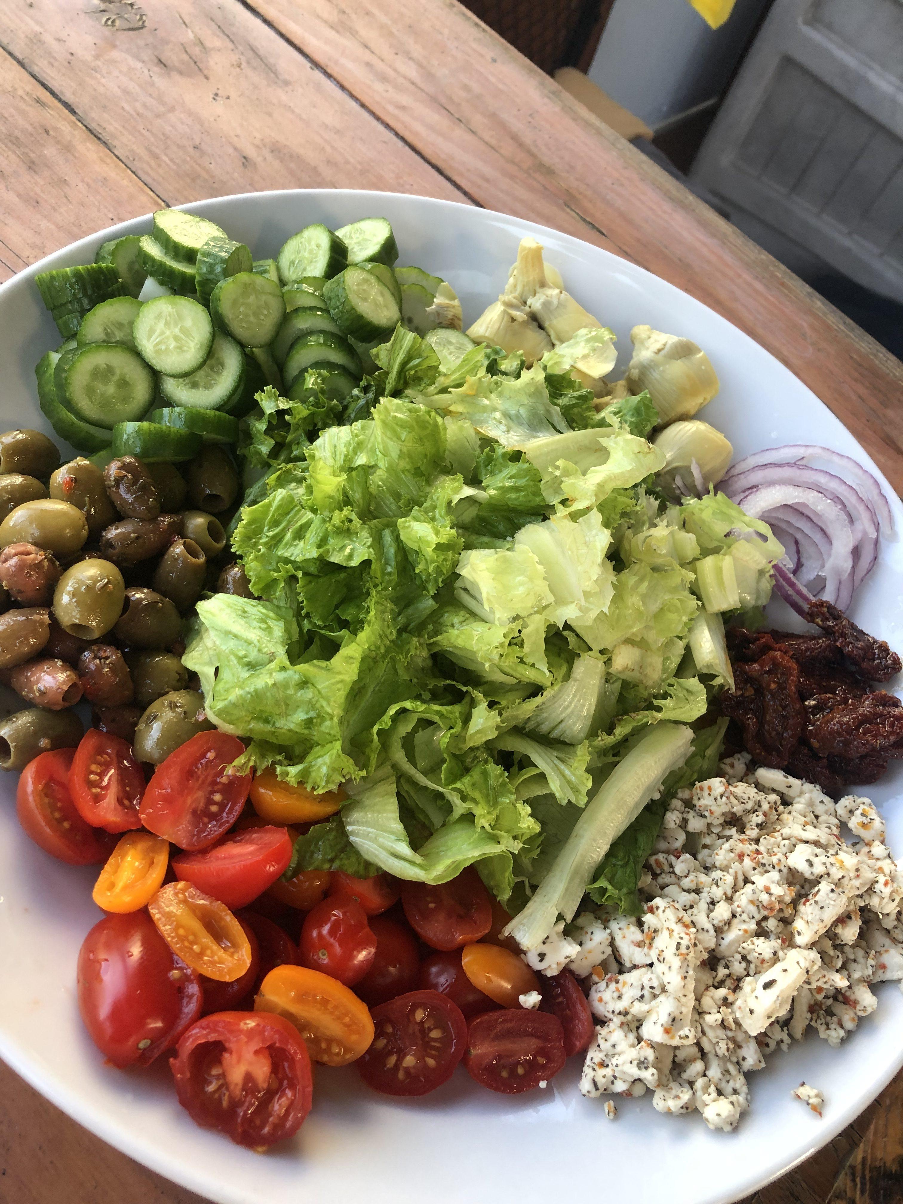 Easy Greek Salad + A Delicious Greek Dressing
